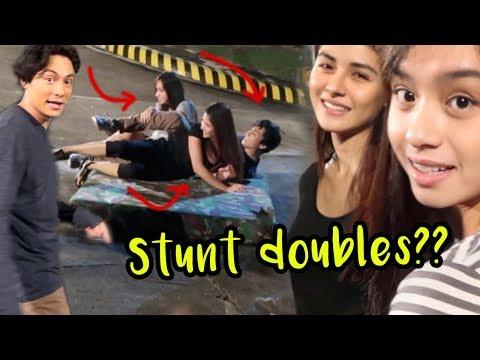 Behind The Scenes CAIN AT ABEL Stunts/Drama (with Sanya Lopez and Pauline Mendoza)