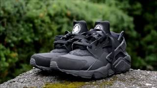 "Nike Huarache ""Triple Black"" On Feet !"