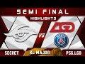 Secret vs PSG.LGD Semi Final Kuala Lumpur Major KL Major Highlights Dota 2