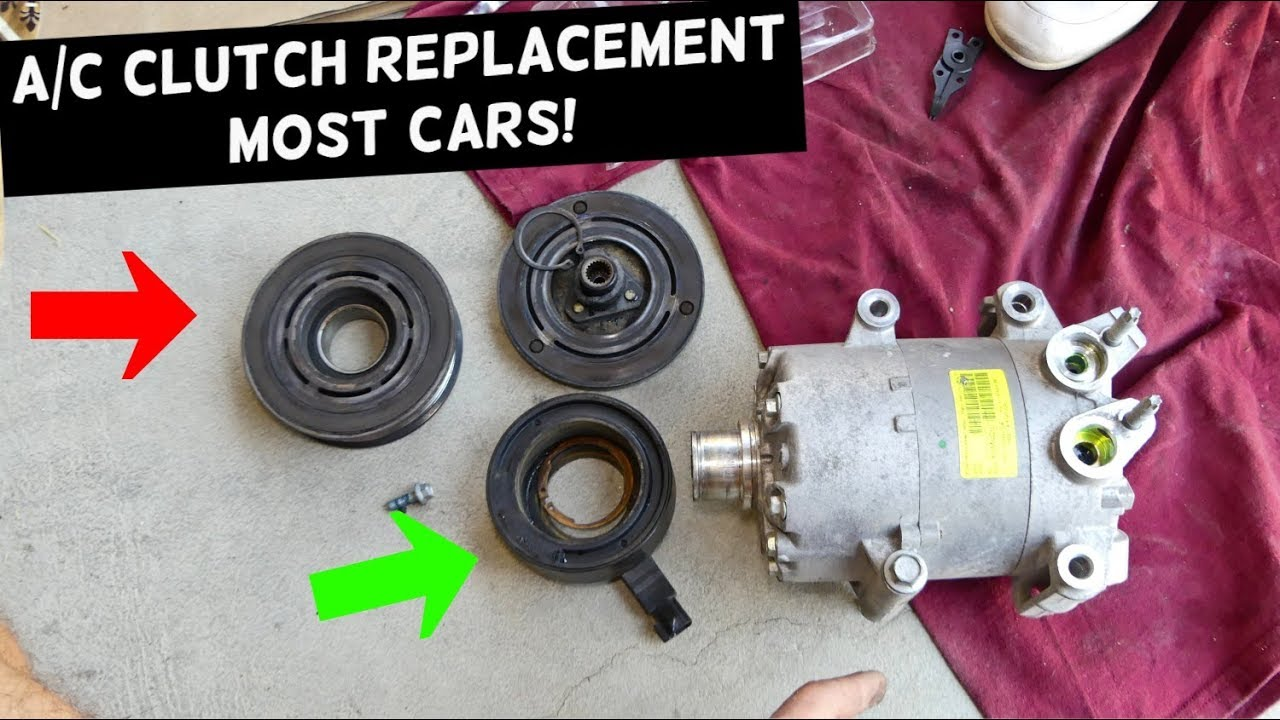 AC COMPRESSOR CLUTCH REPLACEMENT MOST CARS  A/C CLUTCH
