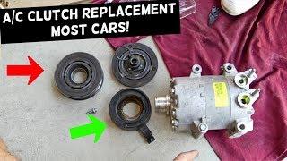 AC COMPRESSOR CLUTCH REPLACEMENT MOST CARS. A/C CLUTCH