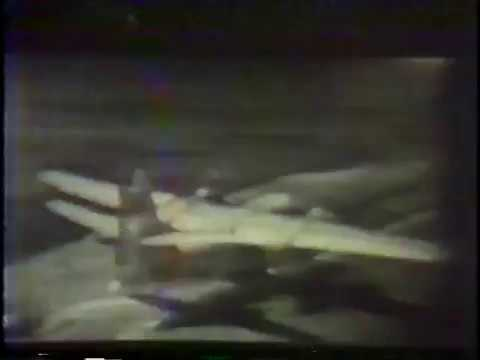 Grumman S-2E Tracker Flies Through a Wave (1971)