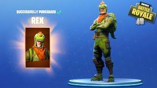 HIKEPLAYS: Fortnite Battle Royale - NEW T REX SKIN!!!
