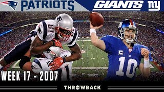 A Preview to History! (Patriots vs. Giants 2007, Week 17)