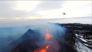 'GMA' Flies Drone Over Erupting Volcano Live