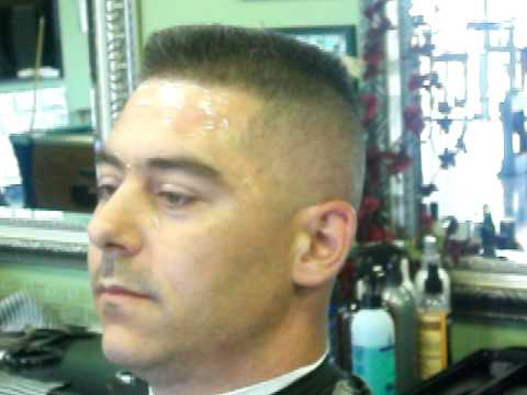Flat Top Skin Fade Haircut Military Cut Part 2 Of 2 YouTube