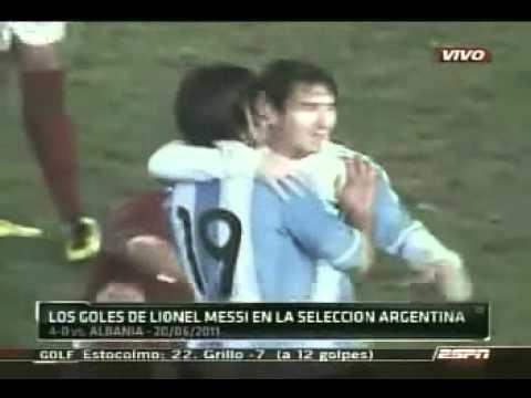 Los 26 Goles de Lionel Messi en la Seleccion Argentina