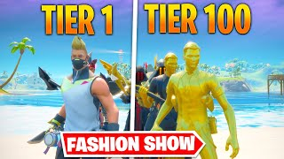 *TIER 1 vs TIER 100* Fortnite Fashion Show! FIRE Skin Competition! Best DRIP & COMBO WINS!