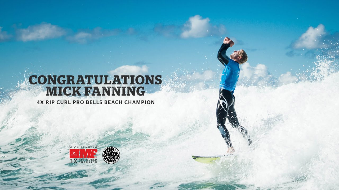 Mick Fanning 4 X Rip Curl Pro Bells Beach Champion