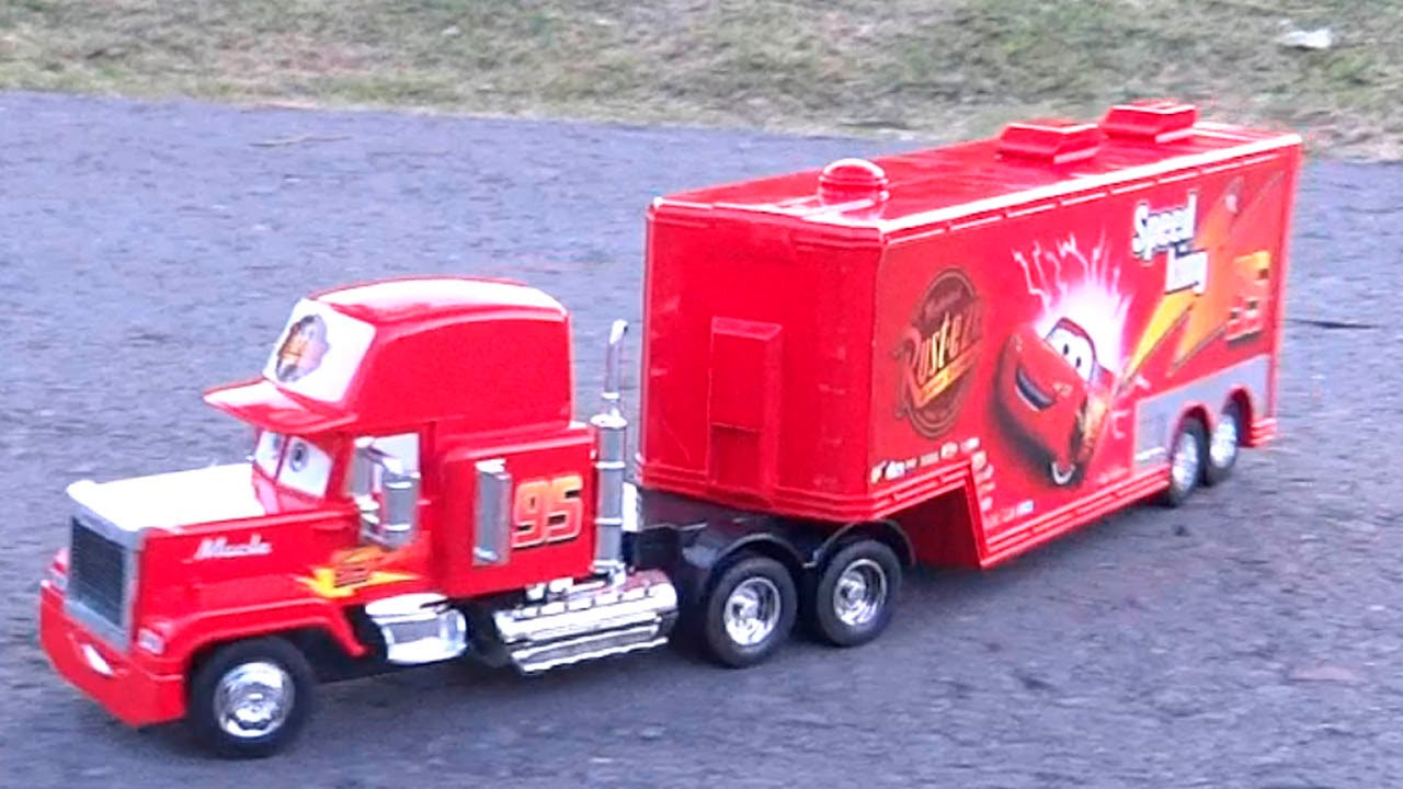camion mack truck cars control remoto rc rayo mcqueen tractomula trailer disney youtube. Black Bedroom Furniture Sets. Home Design Ideas