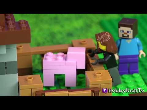 Lego Minecraft Trixie Date Night [21115] Steve Creeper Pig Ham by HobbyKidsTV