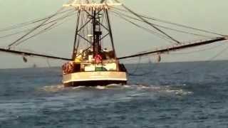 Shrimp Boats Leaving Laguna Madre, South Padre Island.