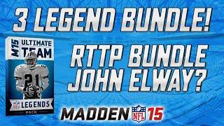 Legend Bundle & Rttp Bundle Opening!   Madden 15 Ultimate Team