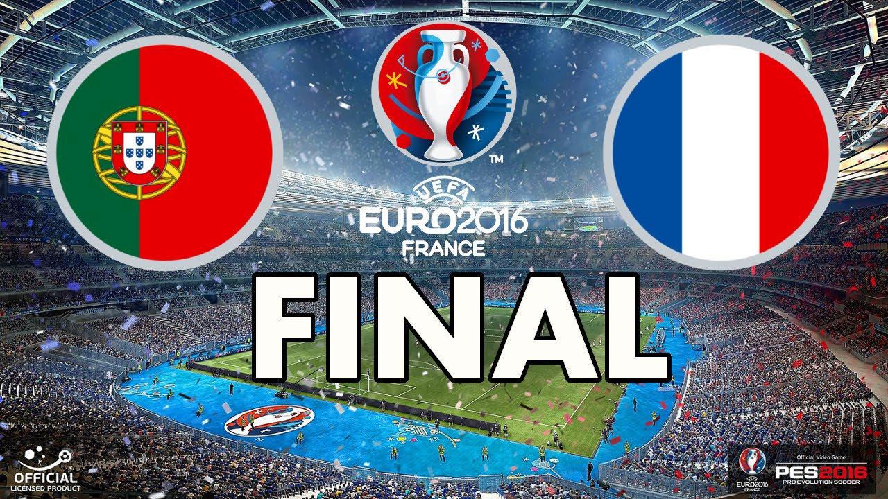 UEFA EURO 2016 FINAL - PES 2016 - Portugal vs France - YouTube