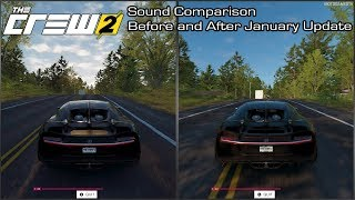 The Crew 2 - Bugatti Chiron Sound Comparison - Before and After January Update
