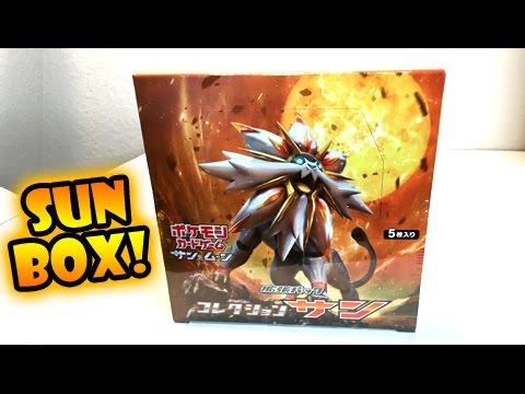 OPENING POKEMON SUN AND MOON CARDS COLLECTION SUN SOLGALEO BOX!