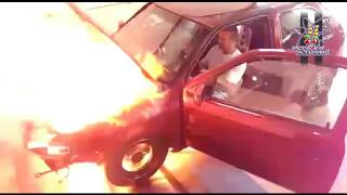 EXPLOSÃO MOTOR AP TURBO DO GOL (Engine Explosion in Fire)