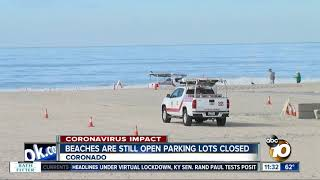 Coronado beaches still open, some parking lots closed
