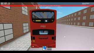Roblox London Hackney & Limehouse bus Simulator Wright Pulsar DAF Route 48 Last Day of Year 2017