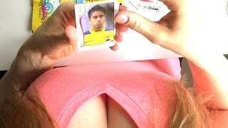 [Girl unboxing]: Panini World Cup 2014 Brasil Stickers in HD