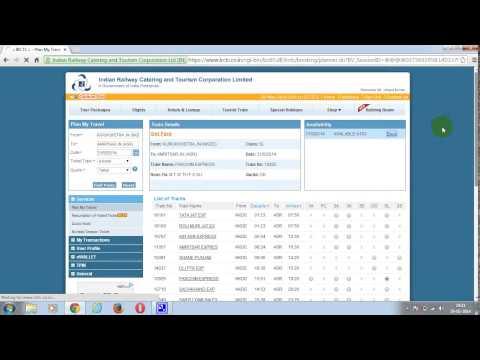 Online Train Tickets Tatkal Quota Booking In Mode Through IRCTC Website