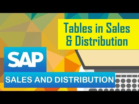SAP SD | Tables in Sales and Distribution | All Tables - YouTube