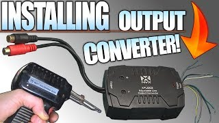 How To INSTALL a Line Output Converter w/ Stock Radio & Speakers 4 Aftermarket SUB AMP Installation