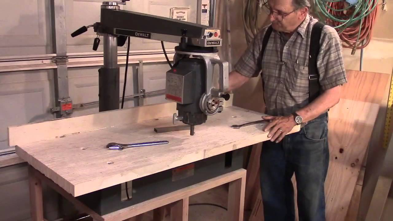 DeWalt 790 Radial Arm Saw: Table Install   YouTube