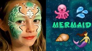 Mermaid Face Painting Mermaid Face Painting Ideas Youtube