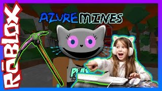 Roblox Minecraft Azure Mines | Rare Gem Jackpot! | MaddyKattyKins | Kid Safe Gaming Video