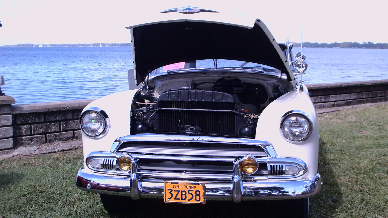 All Chevy 1951 chevy styleline deluxe : 1951 Chevy Styleline Deluxe Two Door Coupe Wht Eustis110516 - YouTube