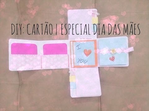 diy cart o especial dia das m es youtube. Black Bedroom Furniture Sets. Home Design Ideas