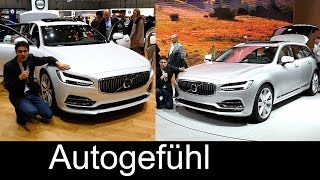 Volvo S90 sedan vs Volvo V90 estate REVIEW Exterior/Interior Motor Show comparison neu new Kombi
