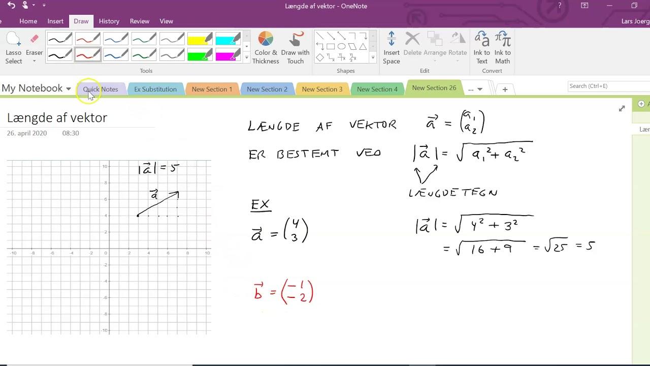 Vektor Længde Ex