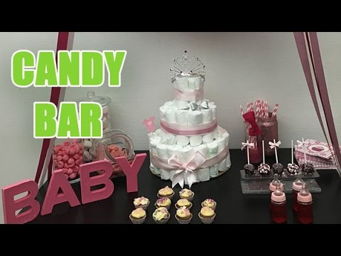 comment pr parer un candy bar pour une baby shower ou un. Black Bedroom Furniture Sets. Home Design Ideas