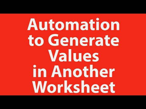 Enter Value In One Excel Sheet And Generate Values In