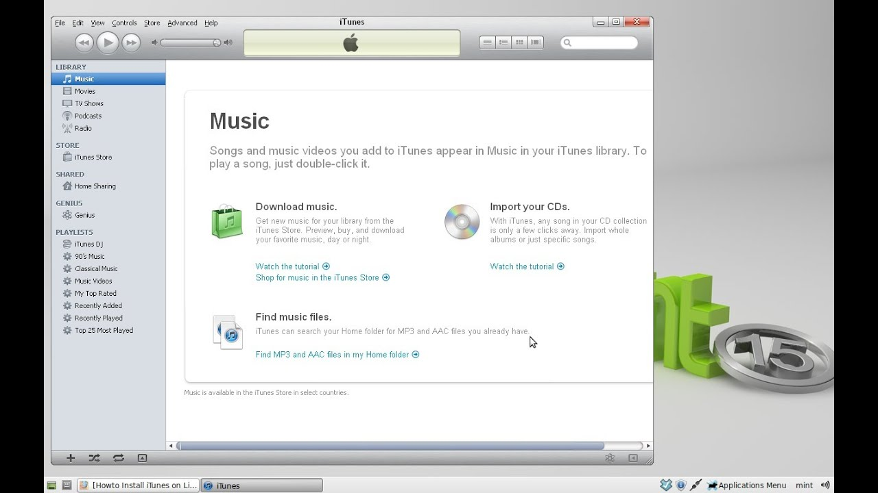 musica da youtube linux mint