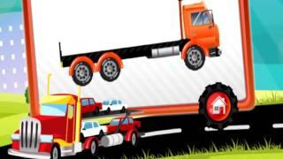 Мультики про машинки | Трейлеры транспортеры | Машинки мультфильмы развивающие