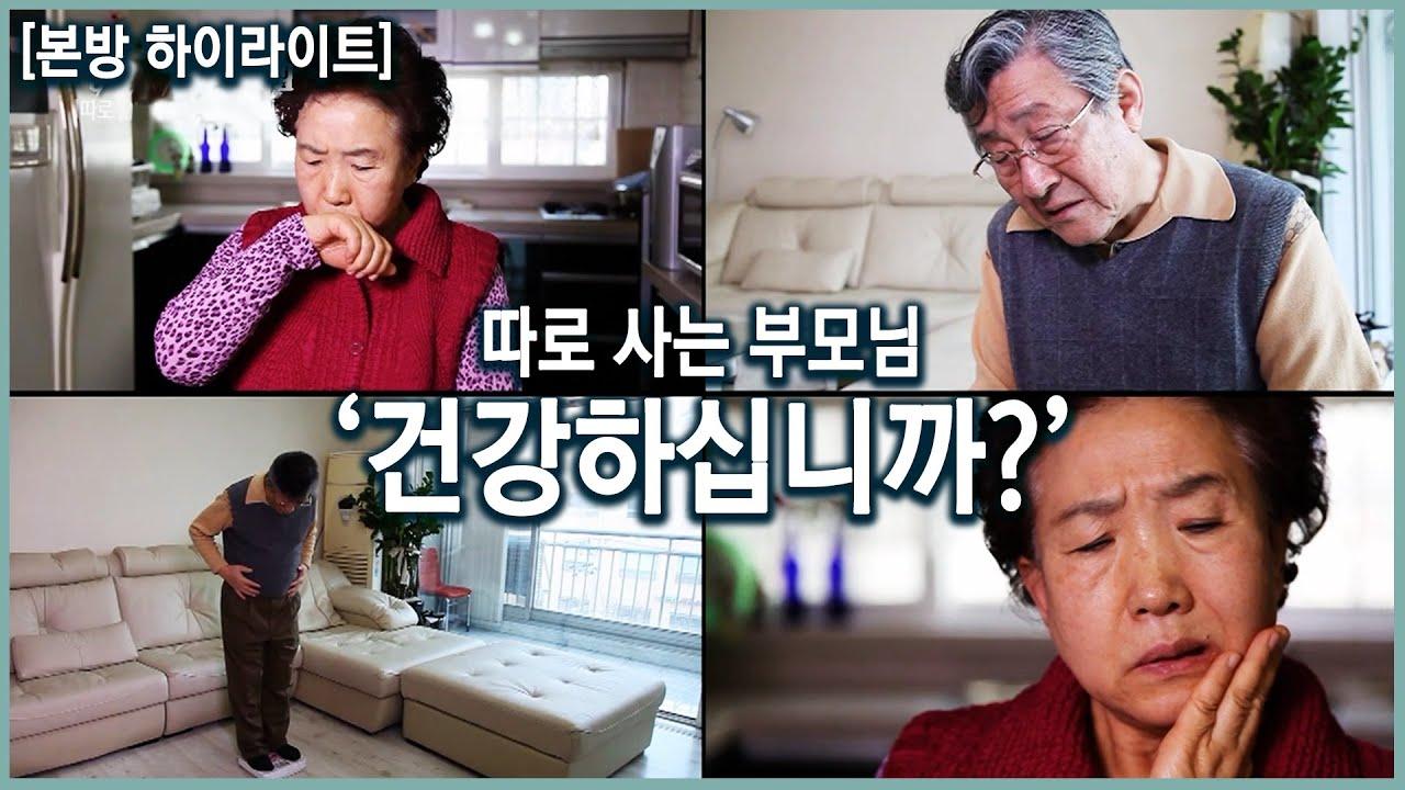 65세 인구 중 노인끼리만 사는 인구 67.5%! 따로 사는 부모님 건강. 어떤 전조 증상을 눈여겨봐야할까? (KBS20160203)