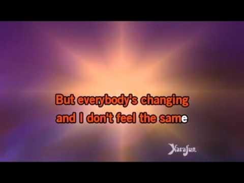 Keane Everybody's Changing karaoke