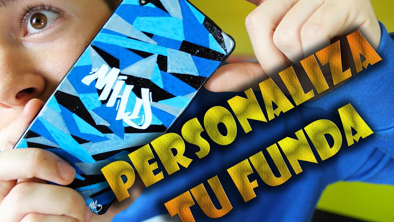 66d24e5ce4f Personaliza la funda de tu móvil - TUTORIAL - YouTube