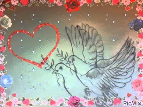 Colombe de la paix dessin fait par gino gibilaro avec - Dessin avec des coeurs ...