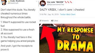 MyUsernamesThis and KreekCraft 1v1 DRAMA! *EXPOSED* (Roblox Jailbreak Battles)