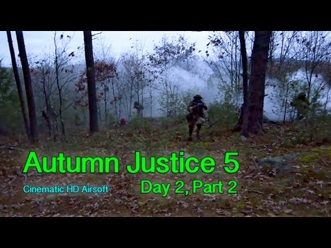 Autumn Justice 5: Day 2, Part 2 Cinematic Airsoft Action in HD