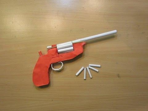 How to make a Paper Revolver  that Shoots Paper Bullet (Paper Gun)