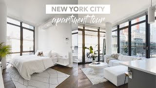 LUXURY NYC APARTMENT TOUR | All-White, Modern 1-bedroom