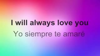 ♥ I'll Always Love You ♥ ~ Whitney Houston~Subtitulada inglés/español