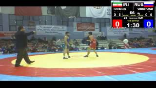 Вехби Эмре 2013 66 кг. Оршокдугов Тахерис (Иран)