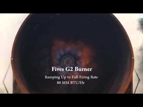 Fives G2 Burner Demonstration Youtube