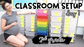 CLASSROOM SETUP DAY 1!! - Classroom Haul + Organizing
